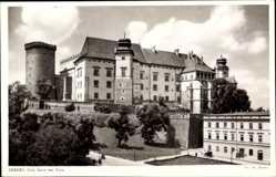 Postcard Kraków Krakau Polen, Blick auf die Südseite der Burg, Fassade