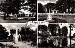 Postcard Mönchengladbach Rheydt, Der Schmölderpark mit Teichpartie