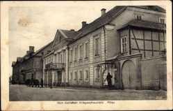 Postcard Jelgava Mitau Lettland, Straßenpartie im Ort, Balkon, Häuser