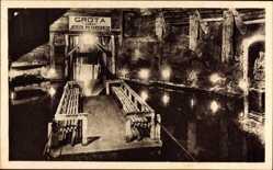 Postcard Wieliczka Groß Salze Polen, Grubensee in der Grotte Pilsudski