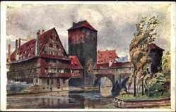 Künstler Ak Kley, Heinrich, Nürnberg in Mittelfranken Bayern, Der Henkersteg