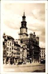 Foto Ak Poznań Posen, Ansicht vom Rathaus, Ratusz