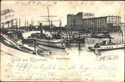 Postcard Mannheim in Baden Württemberg, Hafenpartie, Mannheimer Lagerhaus Gesellschaft