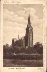 Postcard Jüchen Nordrhein Westfalen, Blick auf die Katholische Kirche
