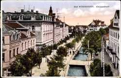 Postcard Bad Wörishofen im schwäbischen Kreis Unterallgäu, Blick in die Kneippstraße
