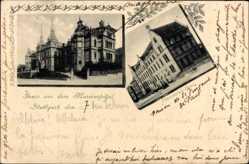 Postcard Stuttgart in Baden Württemberg, Marienspital mit Vinzetius Haus