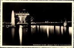 Postcard Stuttgart in Baden Württemberg, Staatstheater im Licht, Nachtansicht