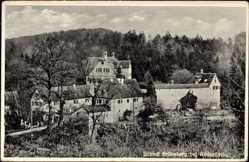 Postcard Altdorf in Niederbayern, Blick auf einen Teil des Schlosses Grünsberg
