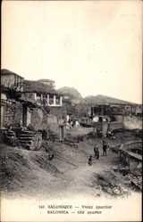 Postcard Saloniki Griechenland, Vieux quartier, Altes Wohnviertel