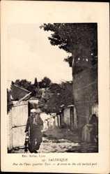 Postcard Saloniki Griechenland, Rue du Vieux quartier Turc, Altes türkisches Viertel