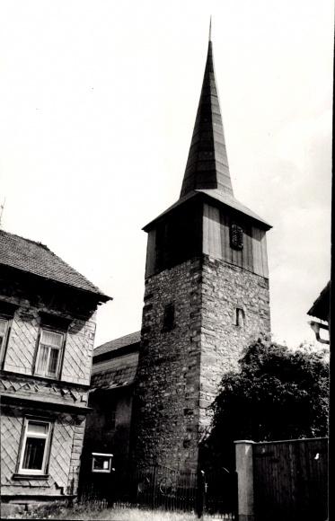 Eberstädt Sonneborn in Thüringen, Blick auf die Kirche