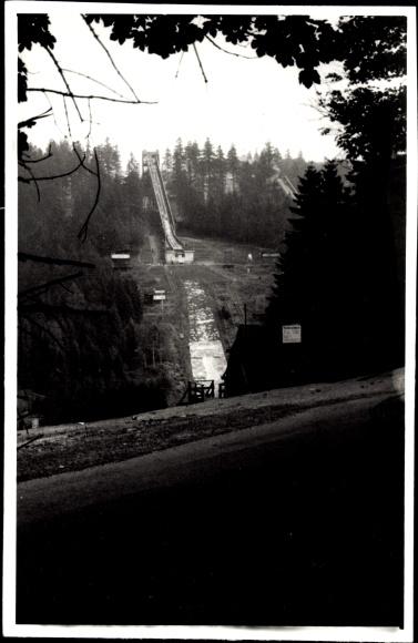 Oberhof im Thüringer Wald, Blick auf die Sprungschanze