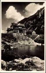Postcard Vysoké Tatry Hohe Tatra Polen, Morskie Oko, Blick auf See Meerauge