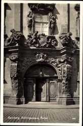 Postcard Bamberg an der Regnitz Oberfranken, Portal zum Böttingershaus