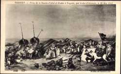 Künstler Ak Vernet, Prise de la Smala d'Abd el Kader a Taguin,Aumale,16 Mai 1843