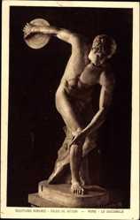 Ak Sculptures Romaines, Palais du Vatican, Rome, Le Discobole, Diskuswerfer