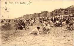 Ak Knocke Zoute Westflandern Belgien, La Plage, Strandpartie, Sand