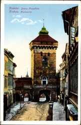Postcard Kraków Krakau Polen, Brama Floryanska, Florianertor
