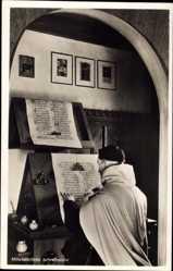 Ak München Bayern, Mittelalterliche Schreibstube, Deutsches Museum, Gelehrter