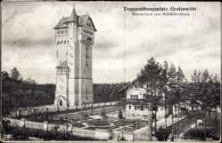Postcard Grafenwöhr im Oberpfälzer Hügelland Bayern, Truppenübungsplatz, Wasserturm