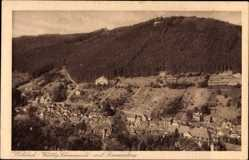 Postcard Bad Wildbad im Kreis Calw Baden Württemberg, Gesamtansicht mit Sommerberg