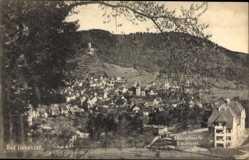 Postcard Bad Liebenzell im Schwarzwald, Erholungshaus für Diakonissen, Ort, Burg