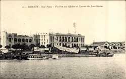 Ak Bizerte Tunesien, Baie Ponty, Pavillon des Officiers, Caserne des Sous Marins