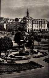 Postcard Kiew Ukraine, Kalinin Square, Platz, Fontäne, Grünanlagen