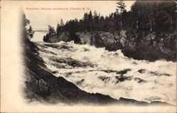 Postcard Finnland, Cataracte d'Imatra, Kaskaden, Flussströmung