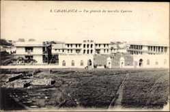 Ak Casablanca Marokko, Vue generale des nouvelles Casernes