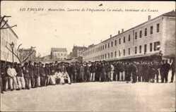 Ak Toulon Var, Mourillon, Caserne de l'Infanterie Coloniale, Intérieur des Cours