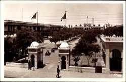 Ak Casablanca Marokko, Caserne des Zouaves, Eingang zur Kaserne