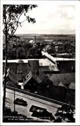 Postcard Landsberg Lech, Blick vom Schlossbergkeller, Neue Bergstraße, Lechbrücke