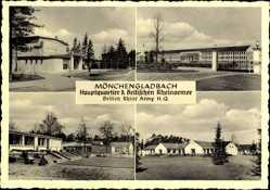 Postcard Mönchengladbach, Hauptquartier der Brit. Rheinarmee, Kasernen