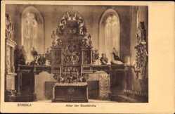 Ansichtskarte / Postkarte Strehla in Sachsen, Blick auf den Altar in der Stadtkirche