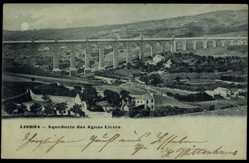 Mondschein Ak Lisboa Lissabon Portugal, Aqueduto das Aguas Livres