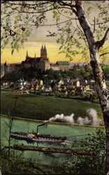 Panorama mit Dampfer