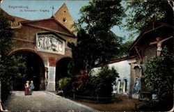 Eingang von Sankt Emmeram, Kruzifix, Jesus