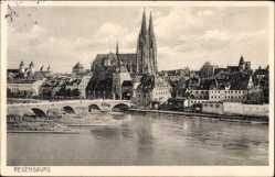 Blick auf die Stadt, Brücke, Dom, Brückentor