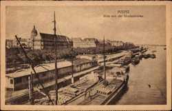 Blick von Straßenbrücke