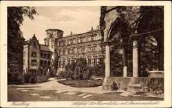 Schlosshof, Otto Heinrichsbau, Brunnenschacht