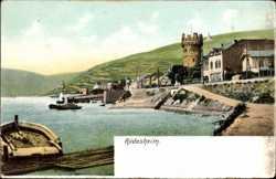 Rheinpartie mit Anlegestelle