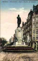 Monumento a Clave y Rambla de Cataluna