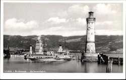 Hafeneinfahrt, Dampfer