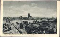 Deutzer Kirchturm, Dom, Brücke