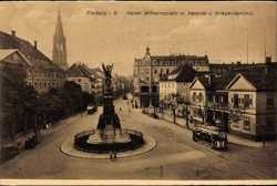Kaiser Wilhelmplatz, Kaserne, Kriegerdenkmal