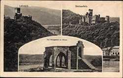 Lahneck, Stolzenfels, Königsstuhl zu Rheus