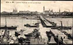 geöffnete Schiffbrücke, Deutz