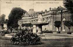 Schloss Sanssouci, Oberste Terrasse