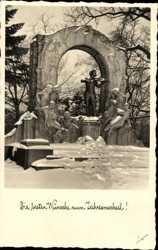 Straussdenkmal, Schnee